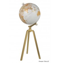 Globe sur pied marbre